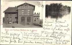 Postcard Dollern Kreis Stade, Das Kurhaus von H. Gätjens, Seeblick