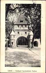 Postcard Lehe Bremerhaven Niedersachsen, Stadtpark Speckenbüttel, Parktor