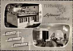 Postcard Wirsberg im Frankenwald Bayern, Terrassen Café, M. Nenninger