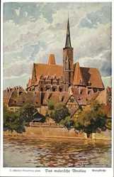 Künstler Ak Günther, Wrocław Breslau Schlesien, Kreuzkirche