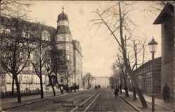 Ak Tschernjachowsk Insterburg Ostpreußen, Dessauer Hof, Straßenpartie