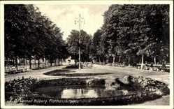 Ak Kołobrzeg Kolberg Pommern, Frühkonzertplatz, Fontäne
