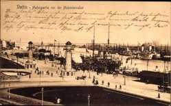 Ak Szczecin Stettin Pommern, Hafenpartie vor der Hakenterrasse