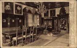 Postcard Mespelbrunn Spessart, Ahnensaal im Schloss Mespelbrunn, Gemälde