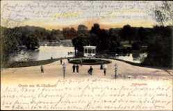 Postcard Mönchengladbach in Nordrhein Westfalen, Pavillon im Volksgarten