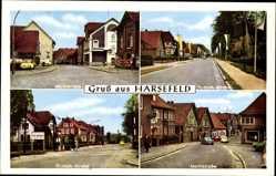 Postcard Harsefeld im Kreis Stade, Marktstraße, Fr. Huth. Straße