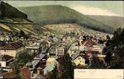 Postcard Bad Wildbad im Kreis Calw Baden Württemberg, Gesamtansicht, Wald, Berg