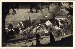 Postcard Bad Teinach Zavelstein im Nordschwarzwald, Gesamtansicht vom Hügel aus,Kirche