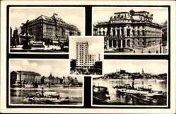 Postcard Poszony Pressburg Bratislava Slowakei, Hotel Carlton, Dampfschiff