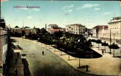 Postcard Lisboa Lissabon Portugal, Matadouro, Straßenpartie, Gebäude, Palmen