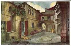Künstler Ak Loeschmann, E., Wrocław Breslau Schlesien, Sabinezimmer, Hof 1