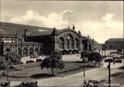 Postcard Hansestadt Bremen, Blick auf den Hauptbahnhof, Straßenseite