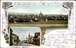 Ansichtskarte / Postkarte Neustadt an der Orla, Totalansicht der Ortschaft, Bismarckstraße