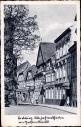 Postcard Perleberg in der Prignitz, Alte Fachwerkhäuser am Großen Markt, Hotel,Gröbler