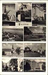 Ak Tilsit Ostpreußen, Grenzland Theater, Hafen, Gericht, Königin Luise Haus