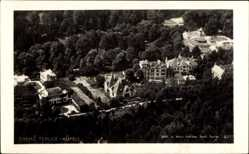 Postcard Trenčianske Teplice Trentschin Teplitz Slowakei, Fliegeraufnahme, Kurhäuser