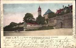 Postcard Höchst Frankfurt am Main, Maintor, Stadtbefestigung, Schlossturm, Zollturm