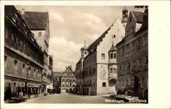 Postcard Nördlingen im Nördlinger Ries Schwaben, Blick auf den Marktplatz, Fachwerk