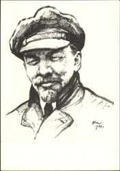 Künstler Ak H. H. Zhukov, Leninportrait, Mütze, lächelnd