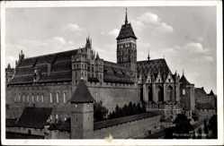 Ak Malbork Marienburg Westpreußen, Ansicht der Ordensburg
