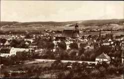 Ansichtskarte / Postkarte Neustadt an der Orla, Panorama der Stadt, Kirche, Hügel