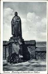 Ak Grudziądz Graudenz Westpreußen, Hindenburg als Ordensritter am Rathaus