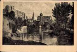 Künstler Ak Lungkwitz, Hermann, Halle an der Saale, Moritzburg, Dom