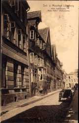 Postcard Lüneburg in Niedersachsen, Rote Hahnstraße, Roter Hahn, Außenseite