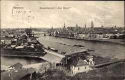 Postcard Hansestadt Bremen, Gesamtansicht, Weserpartie, Stadtblick