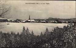 Postcard Buchenberg Allgäu, Winteraufnahme, Stadtpanorama, Glockenturm