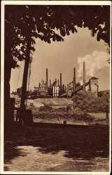 Postcard Dortmund, Stahlwerke Phönix, WHW Das schöne Deutschland Bild 80