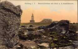 Postcard Großer Feldberg im Taunus, Brunhildisfelsen mit Blick nach Aussichtsturm