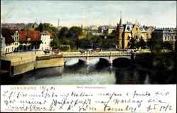 Postcard Lüneburg in Niedersachsen, Partie beim Altenbrückertor, Pferdekutsche, Brücke