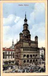 Ak Poznań Posen, Ansicht vom Rathaus, Ratusz, Ring, Rynek