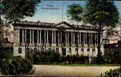 Ak Posen an der Warthe, Front der Raczinski Bibliothek