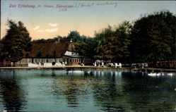 Postcard Sieversen Rosengarten, Gasthof Zur Erholung, Fr. Peters