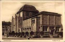 Postcard Mannheim in Baden Württemberg, Seitenansicht der Kunsthalle
