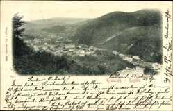 Postcard Trenčín Trencsén Trentschin Slowakei, Totalansicht vom Ort