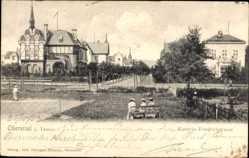 Postcard Oberursel im Hochtaunuskreis Hessen, Kaiserin Friedrich Straße, Tennisplatz