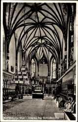 Ak Malbork Marienburg Westpreußen, Inneres der Schlosskirche
