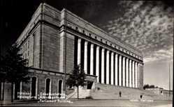 Postcard Helsinki Helsingfors Südfinnland, Pariament Building, Reichstagsgebäude