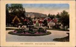 Postcard Bad Liebenstein im Wartburgkreis, Blick nach dem Aschenberg, Park