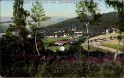 Postcard Bad Liebenstein im Wartburgkreis, Blick vom Aschenberg, Frühling