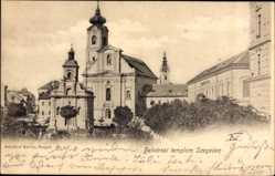 Postcard Segedin Szeged Ungarn, Belvarosi templom Szegeden, Kirche