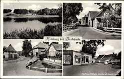 Postcard Moisburg in Niedersachsen, Kaufhaus Wilhelm Gerdts, Partie am See