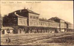Postcard Zemun Zimony Zemlin Belgrad Serbien, Kolodvor, Bahnhof, Gleisseite