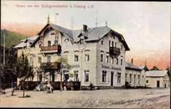 Ansichtskarte / Postkarte Coswig in Sachsen, Restaurant Spitzgrundmühle, Seitenansicht