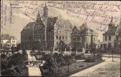 Postcard Wanne Eickel Herne im Ruhrgebiet Nordrhein Westfalen, Rathausplatz