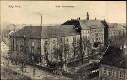 Postcard Augsburg in Schwaben, Städtisches Krankenhaus, Rückansicht