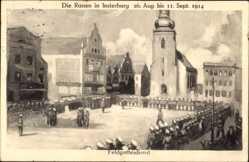 Künstler Ak Tschernjachowsk Insterburg Ostpreußen, Russen im Ort 1914